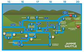Jammie Shuttle map